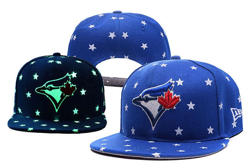 Blue Jays Team Logo Blue Adjustable Luminous Hat YD