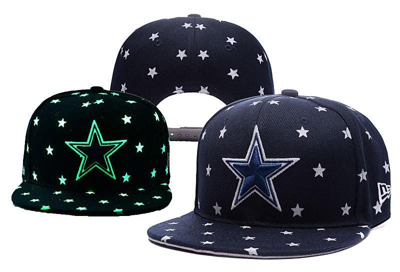 Cowboys Team Logo Navy Adjustable Luminous Hat YD
