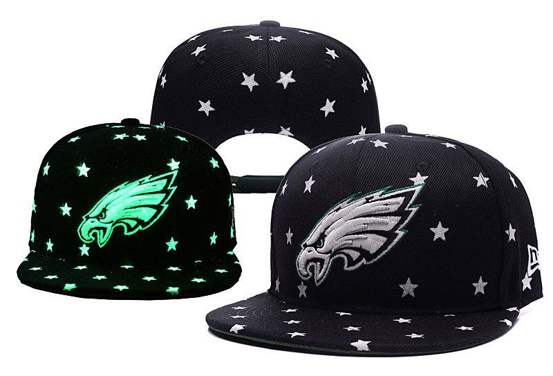 Eagles Team Logo Black Adjustable Luminous Hat YD