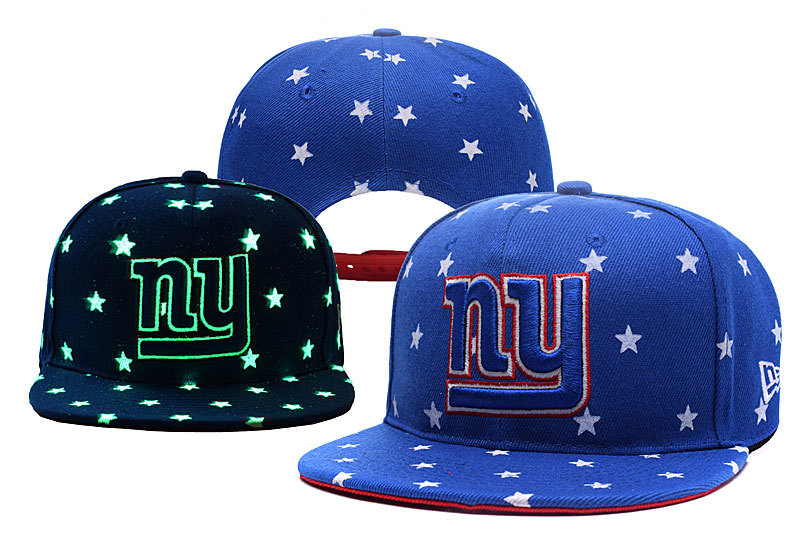 Giants Team Logo Blue Adjustable Luminous Hat YD