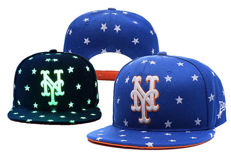 Mets Team Logo Blue Adjustable Luminous Hat YD