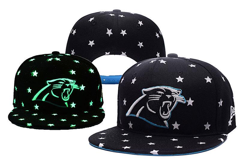 Panthers Team Logo Black Adjustable Luminous Hat YD