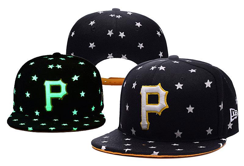 Pirates Team Logo Black Adjustable Luminous Hat YD