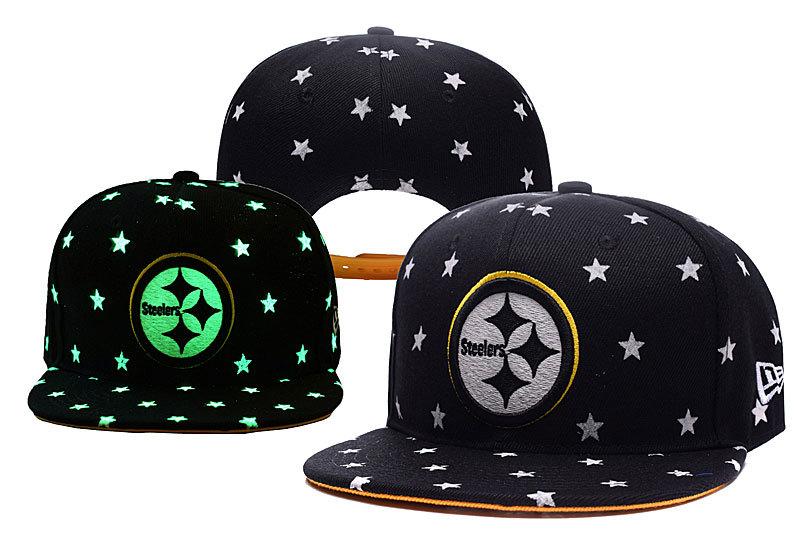 Steelers Team Logo Black Adjustable Luminous Hat YD