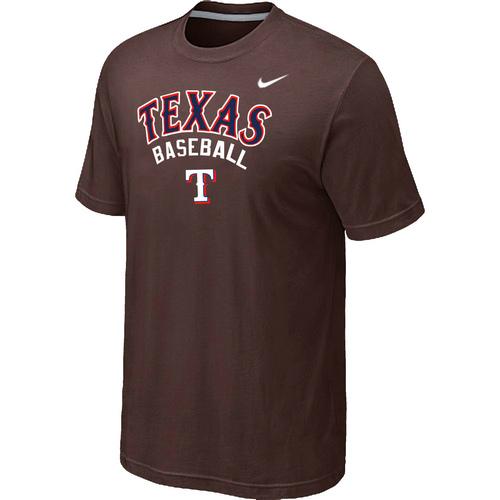 Nike MLB Texas Rangers 2014 Home Practice T-Shirt Brown