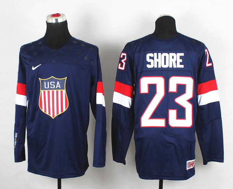 USA 23 Shore Blue 2014 Olympics Jerseys