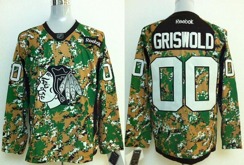 Blackhawks 00 Griswold Camo Jerseys