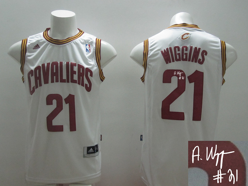 Cavaliers 21 Wiggins White New Revolution 30 Signature Edition Jerseys
