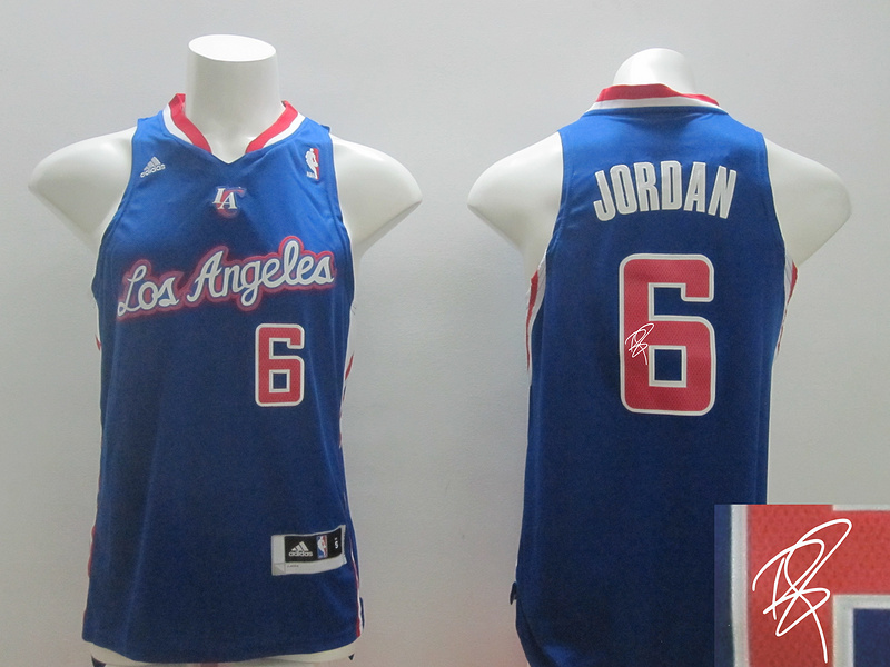 Clippers 6 Jordan Blue New Revolution 30 Signature Edition Jerseys