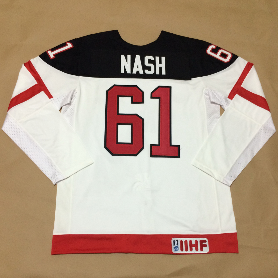 Canada 61 Nash White 100th Celebration Jerseys