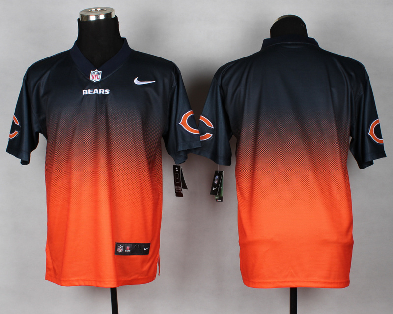 Nike Bears Black And Orange Drift II Elite Custom Jerseys