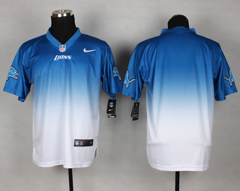 Nike Lions Blue And White Drift II Elite Custom Jerseys