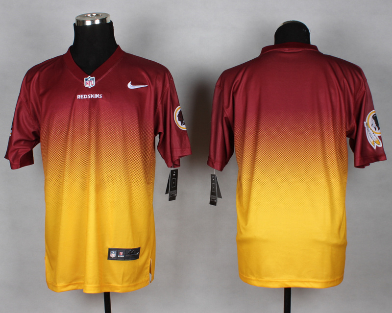 Nike Redskins Red And Gold Drift II Elite Custom Jerseys