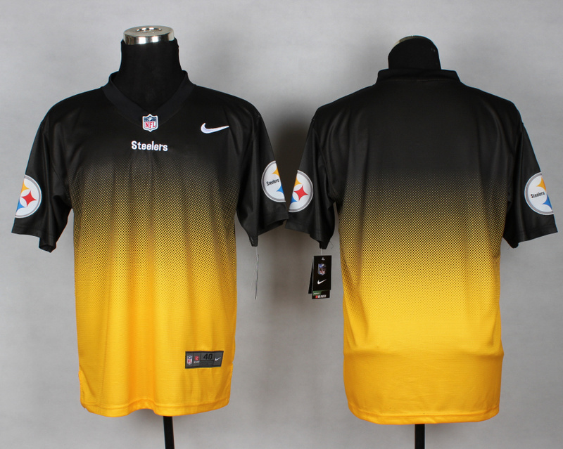 Nike Steelers Black And Gold Drift II Elite Custom Jerseys