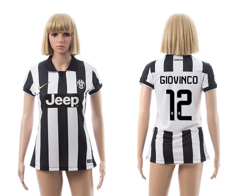 2014-15 Juventus 12 Giovinco Home Women Jerseys