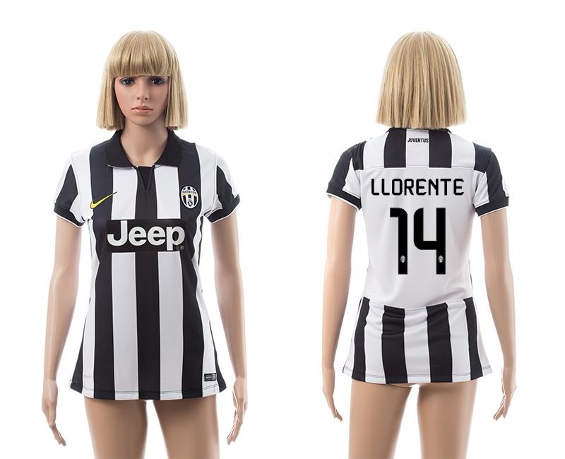 2014-15 Juventus 14 Llorente Home Women Jerseys