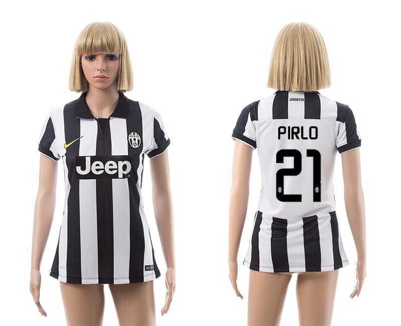2014-15 Juventus 21 Pirlo Home Women Jerseys