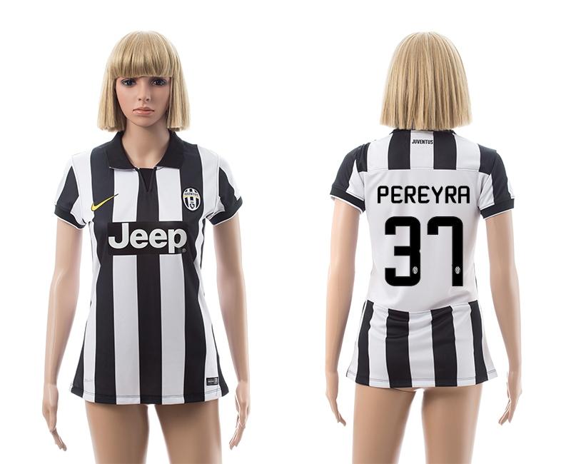 2014-15 Juventus 37 Pereyra Home Women Jerseys