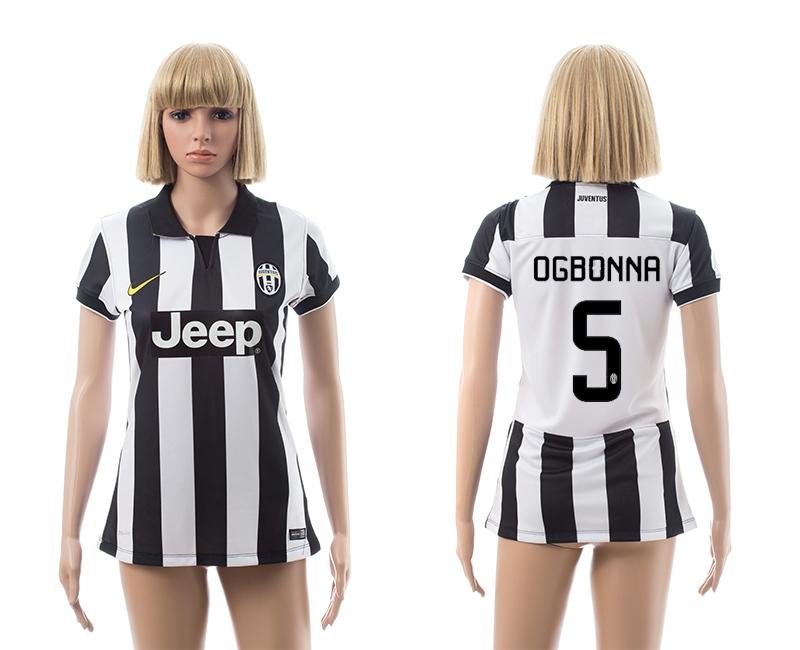 2014-15 Juventus 5 Ogbonna Home Women Jerseys