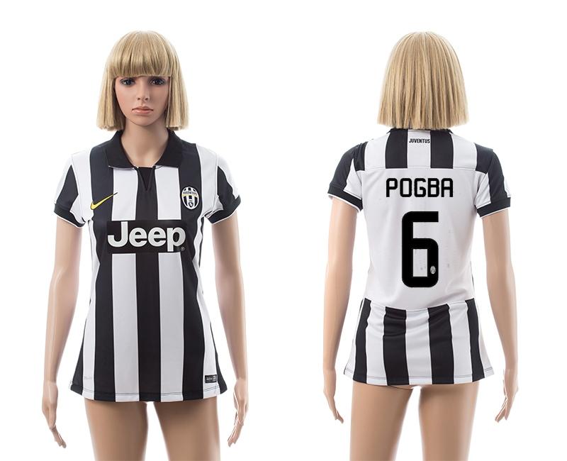 2014-15 Juventus 6 Pogba Home Women Jerseys