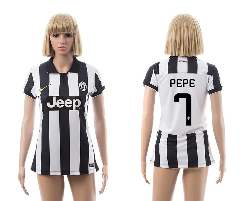 2014-15 Juventus 7 Pepe Home Women Jerseys