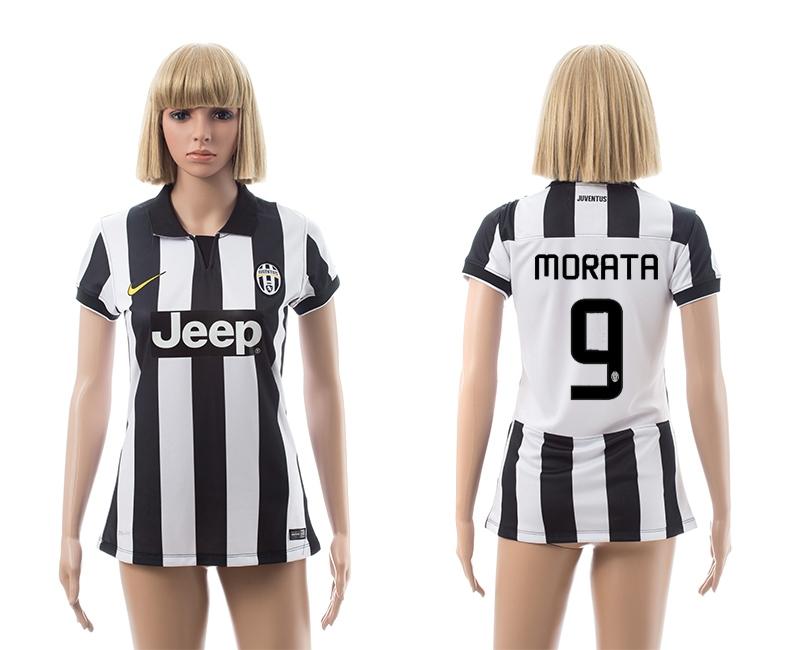2014-15 Juventus 9 Morata Home Women Jerseys