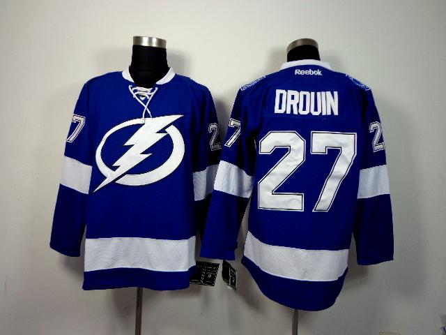 Lightning 27 Drouin Blue Jerseys