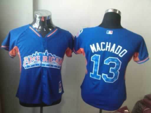 Orioles 13 Manchado Blue Blue 2013 All Star Jerseys