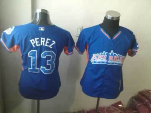 Royals 13 Perez Blue 2013 All Star Jerseys
