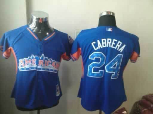 Tigers 24 Cabrera Blue Blue 2013 All Star Jerseys