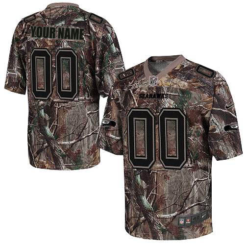 Nike Seattle Seahawks Customized Elite Camo Jerseys