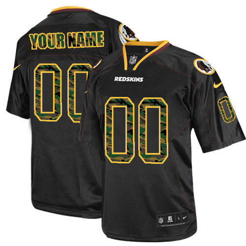 Nike Washington Redskins Customized Elite Camo Black Jerseys