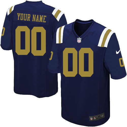 Nike New York Jets Customized Game Blue Jerseys