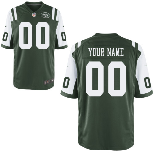 Nike New York Jets Customized Game Green Jerseys