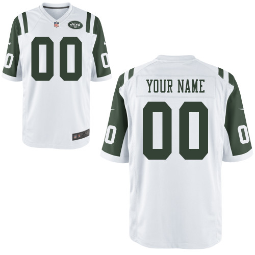 Nike New York Jets Customized Game White Jerseys