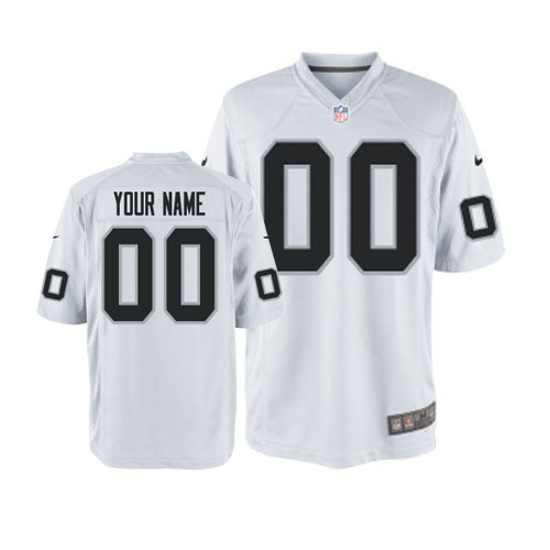 Nike Oakland Raiders Customized Game White Jerseys