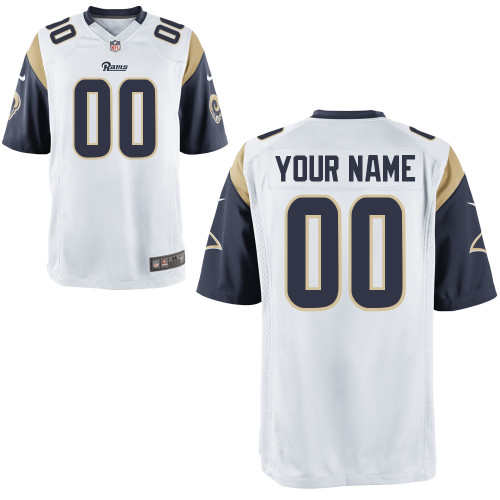 Nike St. Louis Rams Customized Game White Jerseys