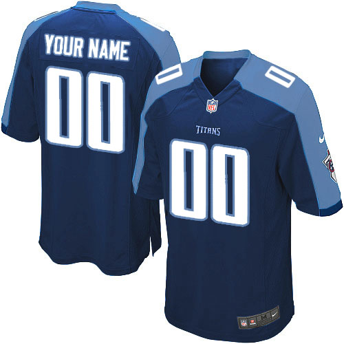 Nike Tennessee Titans Customized Game Dark Blue Jerseys