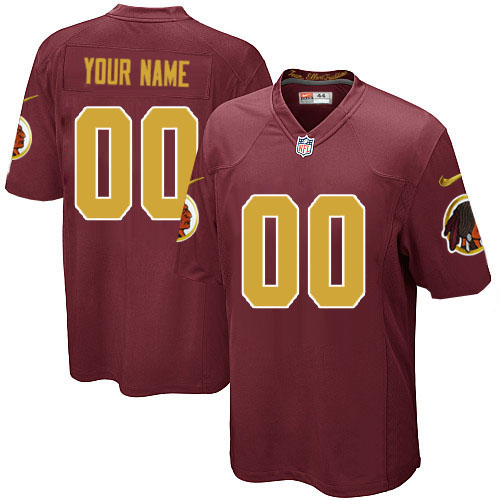 Nike Washington Redskins Customized Game Red 80th Throwback Jerseys
