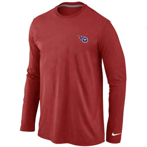Tennessee Titans Logo Long Sleeve T-Shirt Red