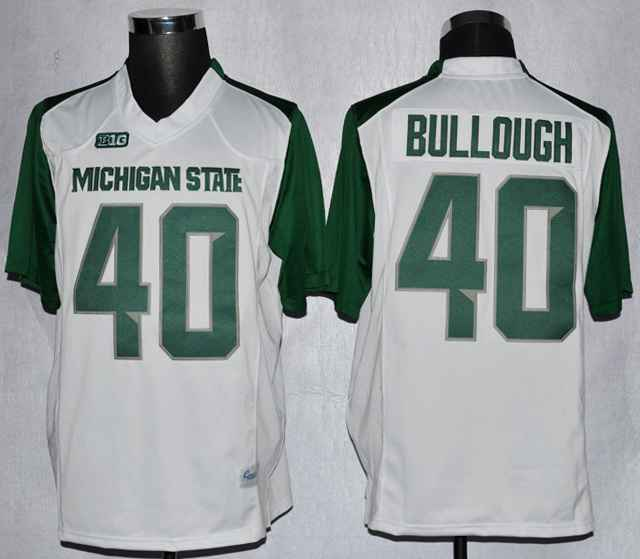 Michigan State Max Bullough 40 College White Jerseys