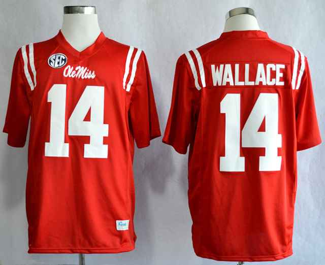 Ole Miss Rebels Bo Wallace 14 College Red Jerseys