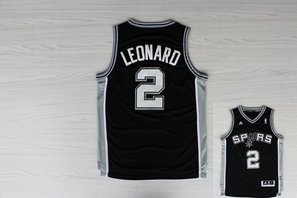 Spurs 2 Leonard Black New Revolution 30 Jerseys