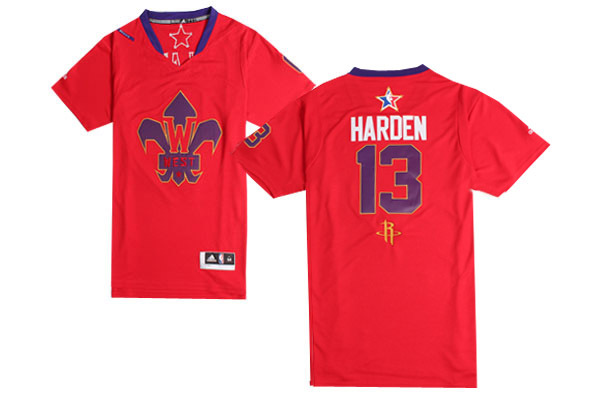 2014 All Star West 13 Harden Red Swingman Jerseys