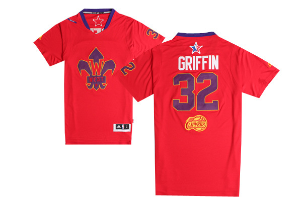 2014 All Star West 32 Griffin Red Swingman Jerseys