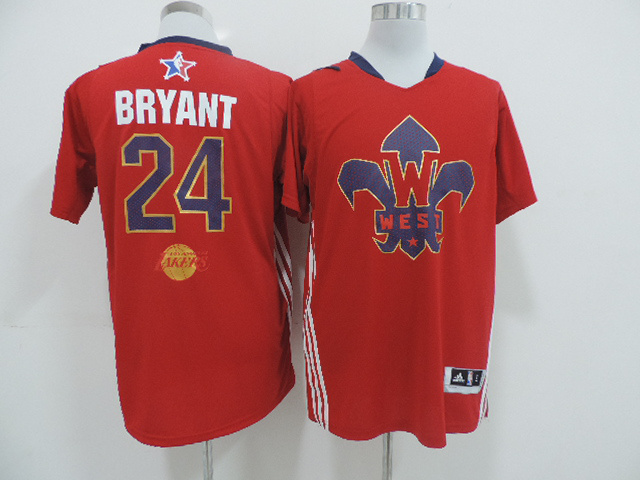 2014 All Star West 24 Bryant Red Swingman Jerseys