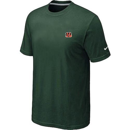 Nike Cincinnati Bengals Chest Embroidered Logo T Shirt D.Green