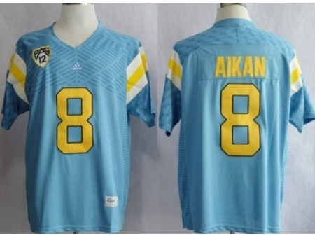 UCLA Bruins Troy Aikman 8 Techfit College Football Jersey Light Blue