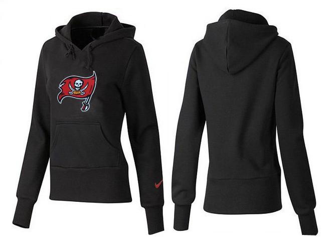 Nike Buccaneers Team Logo Black Women Pullover Hoodies 01