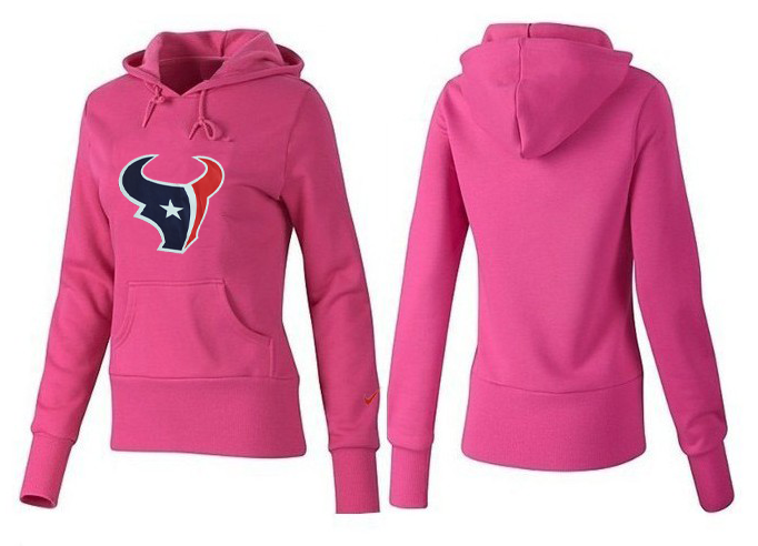 Nike Texans Team Logo Pink Women Pullover Hoodies 04.png
